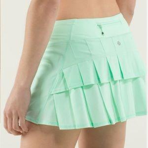 Lululemon Run Pace Setter Skirt Skort Fresh Teal 8